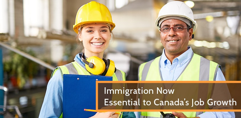 Immigration Now Essential to Canada's Job Growth