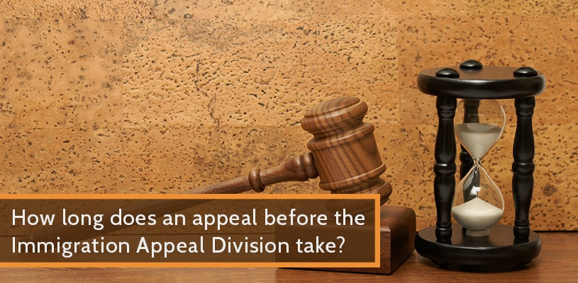 How long does an appeal before the Immigration Appeal Division take?