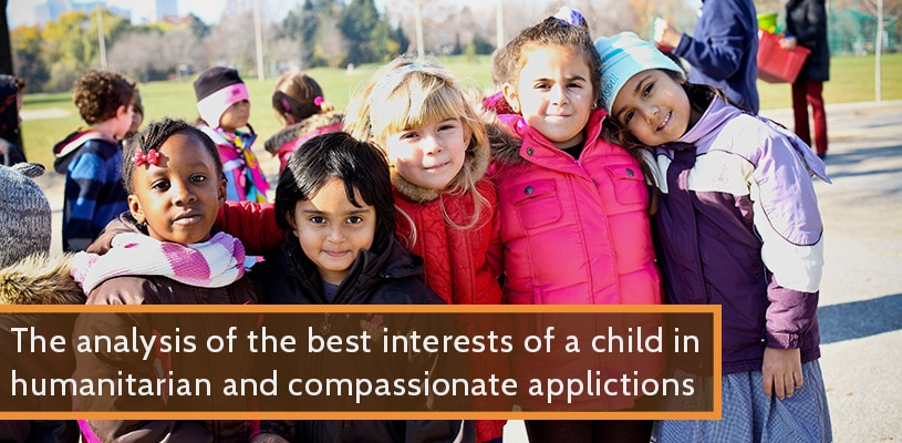 The analysis of the best interests of a child in humanitarian and compassionate applications