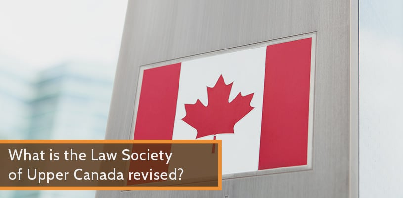 what is the Law Society of Upper Canada revised