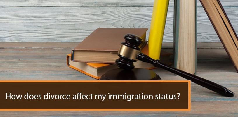 How does divorce affect my immigration status
