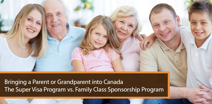 Bringing Parent or Grandparent into Canada