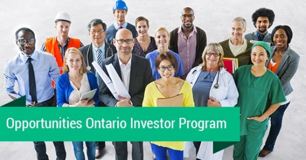 What is The Opportunities Ontario Investor program?