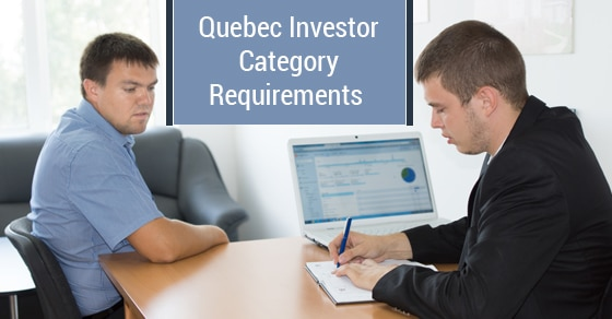 Quebec Investor Category Requirements