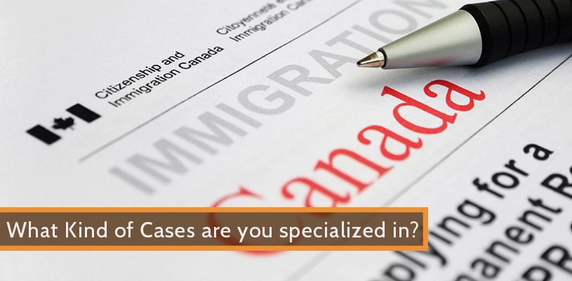 what kind of cases are you specialized in revised