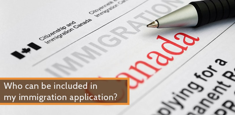who can be included in my immigration application