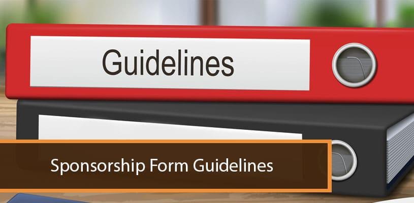 Sponsorship: Form Guidelines