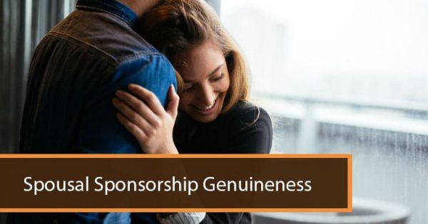 Spousal Sponsorship Genuineness