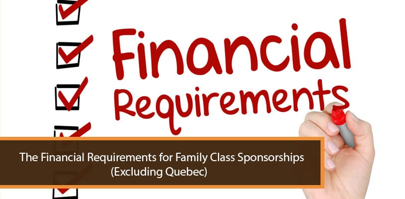 Financial Requirements for Family Class Sponsorships
