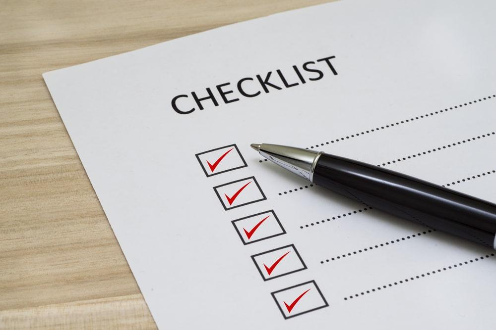 ITA Checklist